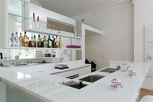 Corian Plan De Travail : cuisine lineaquattro en verre blanc ~ Mglfilm.com Idées de Décoration