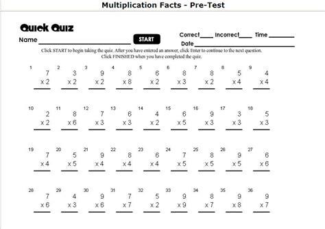 Homeschool Parent Multiplication Selfcorrecting Timed Tests