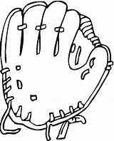 Glove Baseball Coloring Pages Getcoloringpages Ball sketch template