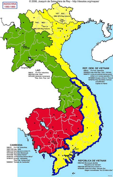 Hisatlas  Map Of Indochina 19501993