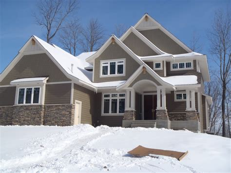 Exterior And Finish Work On New Home In Taylor Creek Of