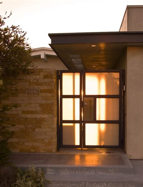 contemporary entry gate modern architecture front door