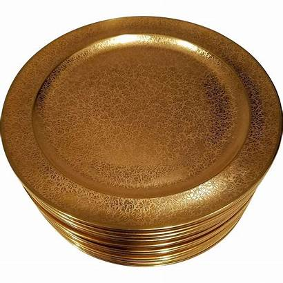 Dinner Charger China Fine Stouffer Plates Gold