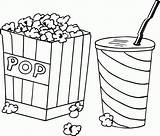Coloring Popcorn Pop Corn Coloriage Candy Getcoloringpages Sheets Rocks Cartoon Dessin Pizza Monster sketch template