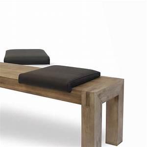 Coussin Pour Banc Ikea : 2 coussins d 39 assise en cuir pleine fleur vachette noir ~ Dailycaller-alerts.com Idées de Décoration