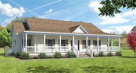 covered wrap around porch on ranch the ashton i floor