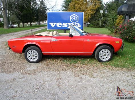 1980 Fiat Spider For Sale by 1980 Fiat 124 Spider Convertible 2 Door 2 0l
