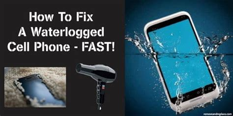 how to fix phone dropped in water how to out a cell phone dropped in the toilet