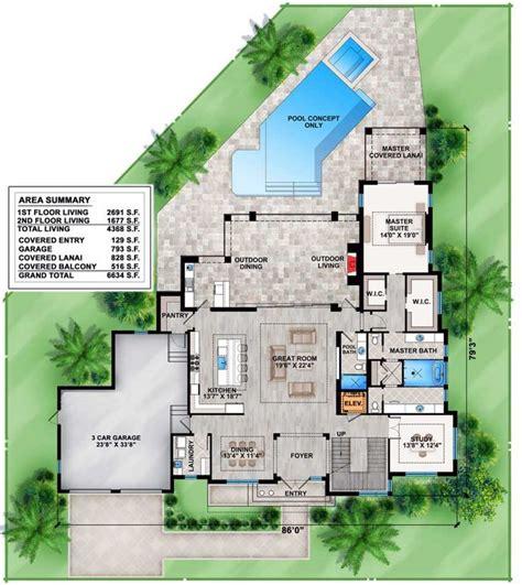 plan bw contemporary house plan  upstairs