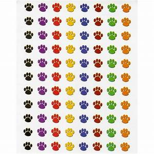 mini colorful paw prints incentive chart and stick With kitchen cabinets lowes with paw print stickers