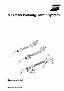 Esab Rt Robo Welding Torch System User Manual