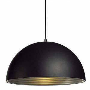 Suspension Luminaire Noir : suspension d me alu noir int rieur argent lampe avenue ~ Teatrodelosmanantiales.com Idées de Décoration