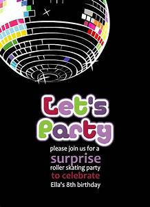 Surprise Birthday Invite Templates Free Printable Disco Party Invitations Templates Party