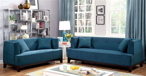 sofia dark teal living room set from furniture of america
