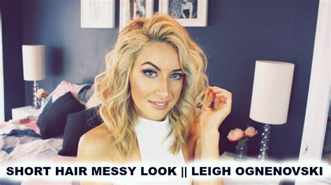 Short Hair Tousled Wave Curls // Leigh Ognenovski
