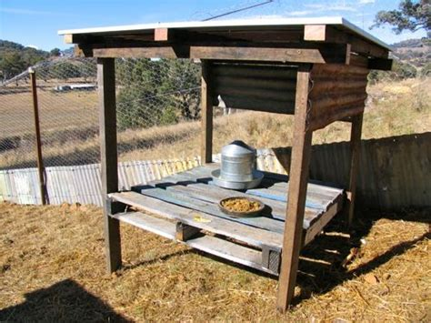 high rise chicken feeding stations   pallets
