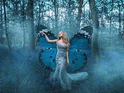 Fairy Butterfly Forest Wallpapers Fantasy Woman Background