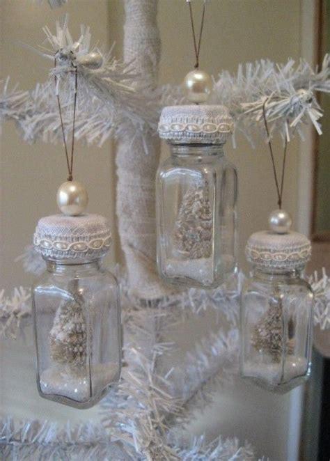 shabby chic ornaments shabby chic bottle ornaments holiday pinterest
