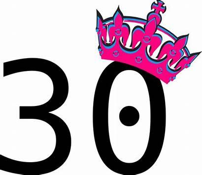 Number Pink Clip Tilted Tiara Clipart Twenty