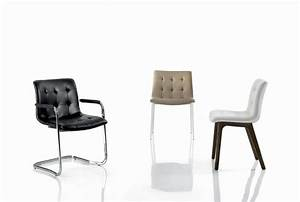 Chaise Design Contemporain : chaise et fauteuil kuga bontempi casa espace steiner ~ Nature-et-papiers.com Idées de Décoration