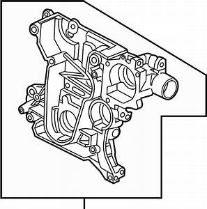 Chevrolet Cruze Engine Timing Cover  Front   1 8 Liter