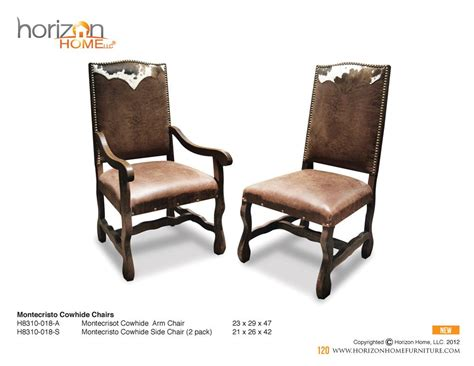 Cowhide Dining Room Chairs by Cowhide Dining Chairs Dining Rooms Rustic Dining
