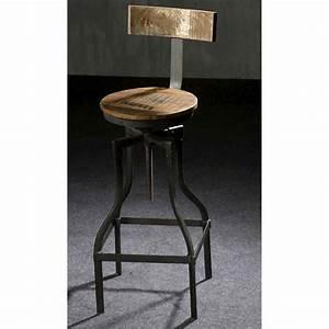 Tabouret De Bar Industriel : tabouret de bar style industriel mobilier style ~ Nature-et-papiers.com Idées de Décoration