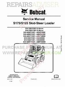 Download Bobcat S175 S185 Loader Service Manual Pdf