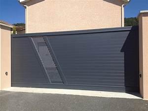 Portail Alu Coulissant 4m : destockage portail aluminium coulissant ~ Dailycaller-alerts.com Idées de Décoration