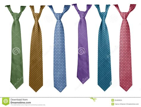 colorful ties collection stock photo image  single