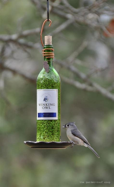 diy bird feeder the garden roof coop diy wine bottle bird feeders