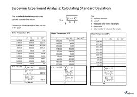 calculate standard deviation worksheet with answers by