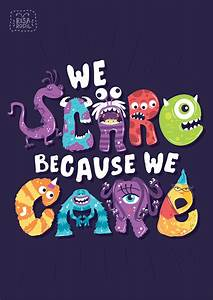 Typographic Ill... Disney Monsters University Quotes