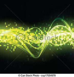 Vectors Illustration of Neon green abstract mosaic