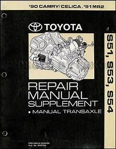 1990 Toyota Camry  Celica  1991 Mr2 Manual Transmission