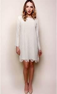 Robe Mariage Dentelle : robe courte dentelle et soie ~ Mglfilm.com Idées de Décoration