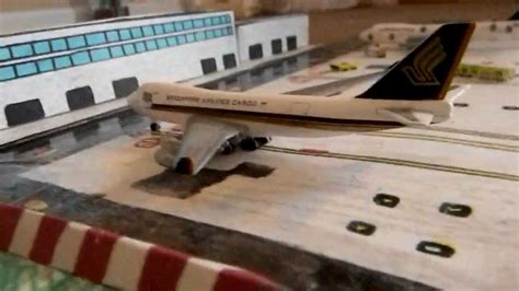 realistic herpa 1500 airport made out of paper