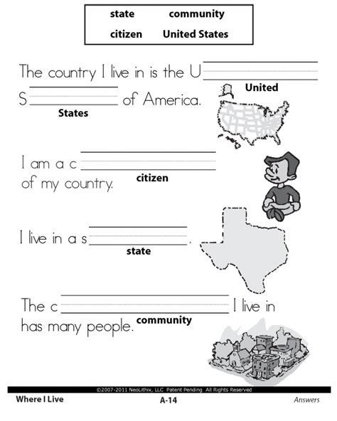 1st grade social studies citizenship