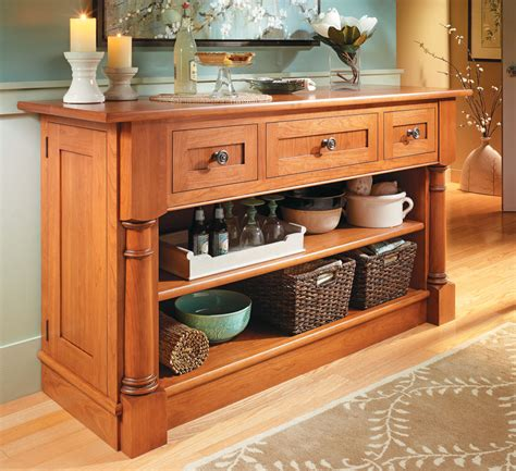 cherry sideboard woodworking project woodsmith plans