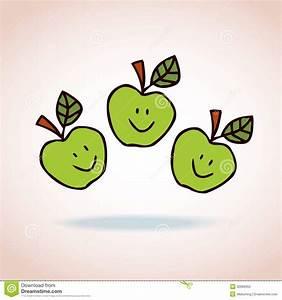 Happy Cartoon Apples Royalty Free Stock Photo - Image ...