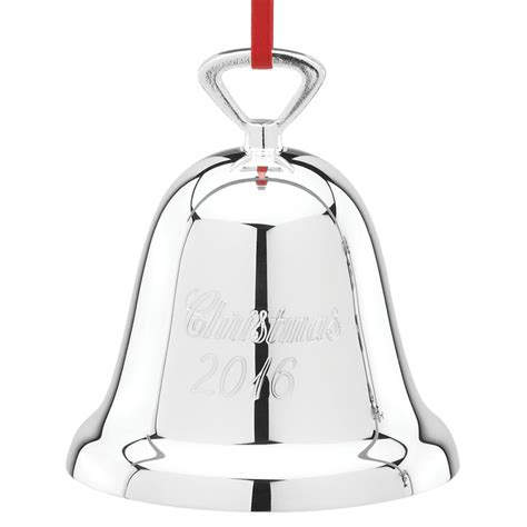 2016 bells on christmas reed and barton christmas bell 2016 christmas ornament silver bell