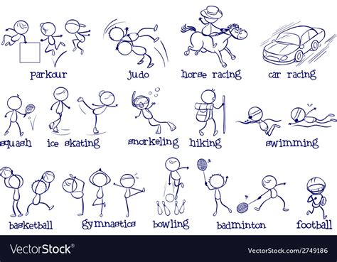 Different Types Of Sports Royalty Free Vector Image