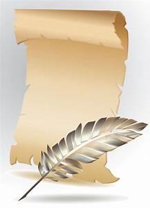 Vintage parchment scroll design vector graphics 01 ...