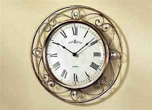 Wanduhr Römische Ziffern : wanduhr uhr metall r mische ziffern quartzwerk quartz clock metallgeh use ebay ~ Watch28wear.com Haus und Dekorationen