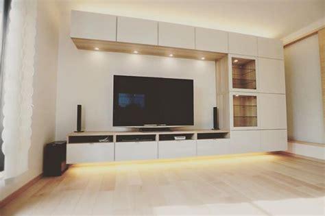 Ikea Tv Wandhalterung by Wall Mounted Ikea Besta With Underlighting Living Room
