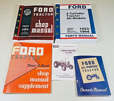 ford   industrial loader tractor service repair