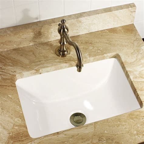 small square undermount bathroom sink highpoint collection 16x11 rectangle ceramic