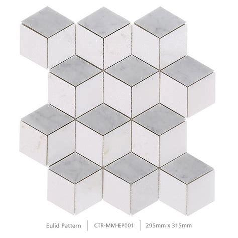 polished white thassos cube   splip bathroom wall