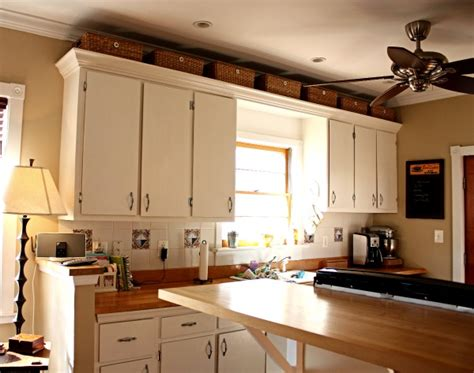 above kitchen cabinet ideas baskets above kitchen cabinets for the home pinterest