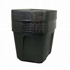 8 Large Tote Box 18 Gallon Stackable Storage Bin Container